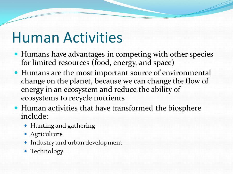 Human Impact Jigsaw 1  List three ways humans have impacted the