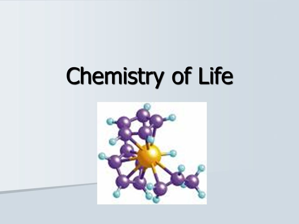 things that involve chemistry in life