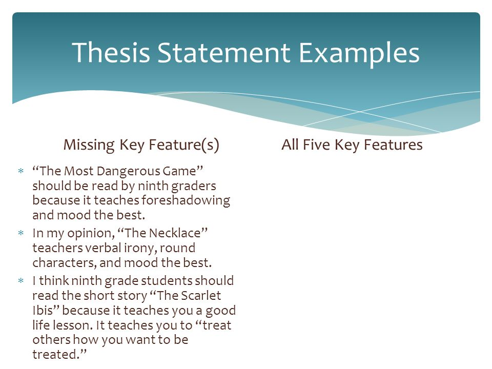 literary analysis thesis statement worksheet