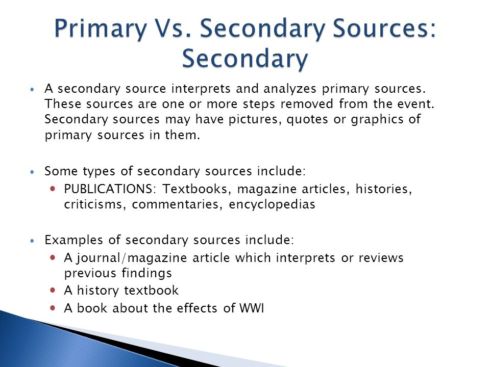 How to cite your sources using mla format create an annotated a secondary source interprets and analyzes primary sources ccuart Gallery