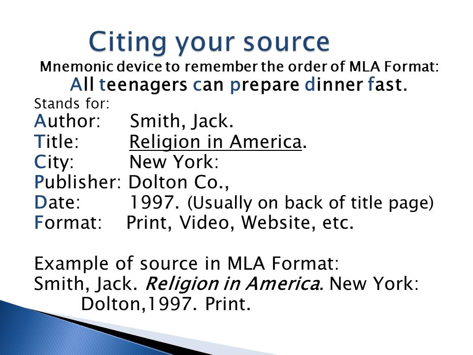 How To Cite Your Sources Using Mla Format Create An Annotated