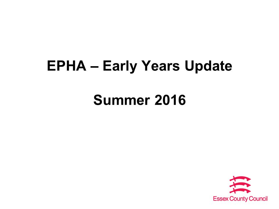 Epha Early Years Update Summer Key Topics Changes To Ofsted