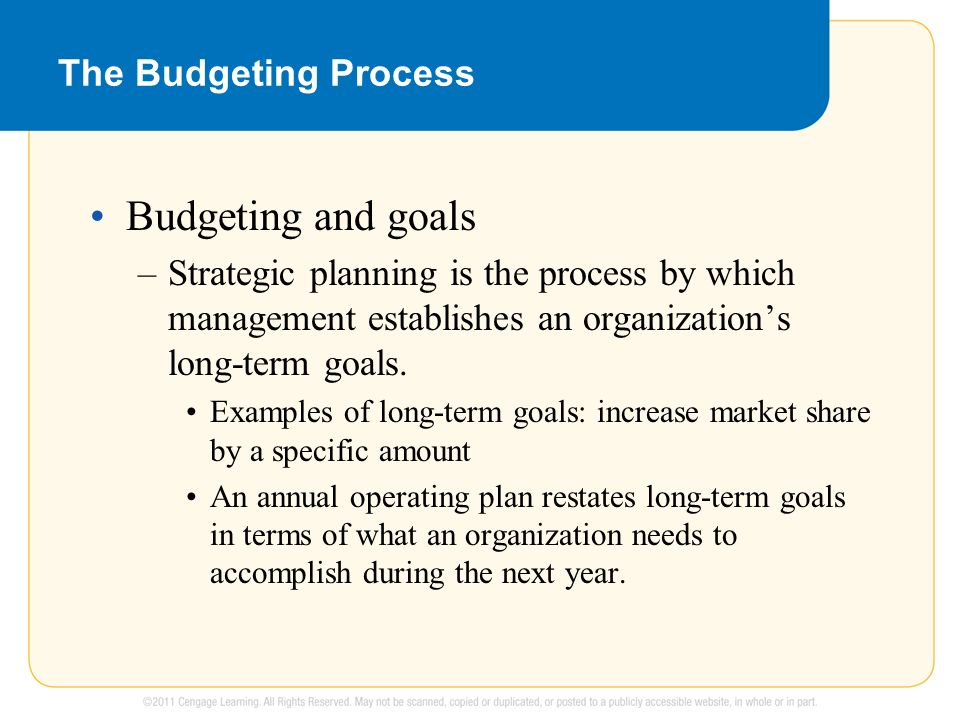 ways for explicating the budgeting process in Some people believe a budgeting process is a waste of time i don't mean the people who have a visceral reaction to budgets and strategy, but there are prudent and wise leaders who view a long budgeting process as bad stewardship they say things like.
