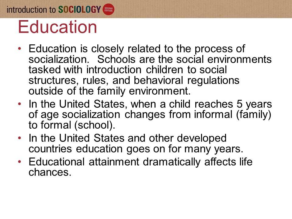 role of education in socialization pdf