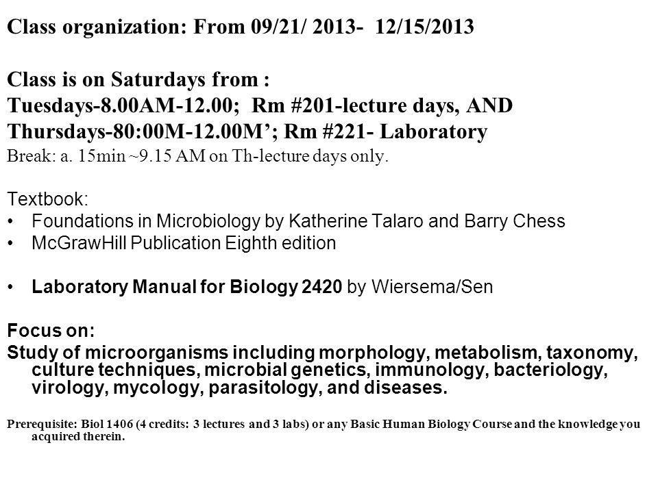 BIOL Microbiology MB CRN Houston Community College Fall