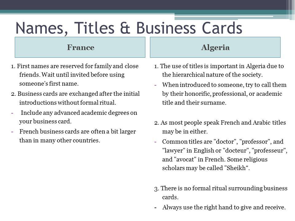 France vs algeria pestel hofstede analysis high context vs low names titles business cards francealgeria 1 colourmoves