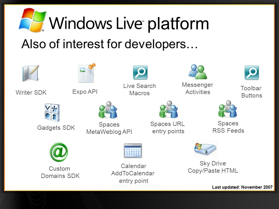 WEB203 Lap Around the Windows Live Platform Catherine Heller Windows