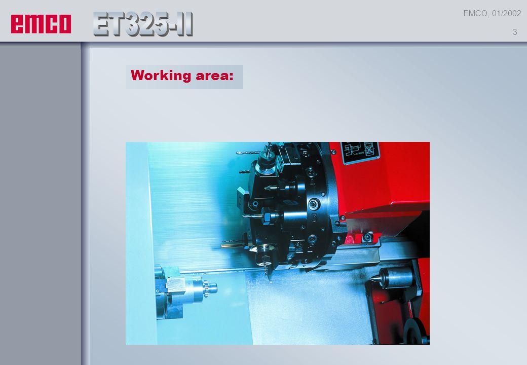 1 EMCO, 01/2002 WELCOMEat 2 New development for the range