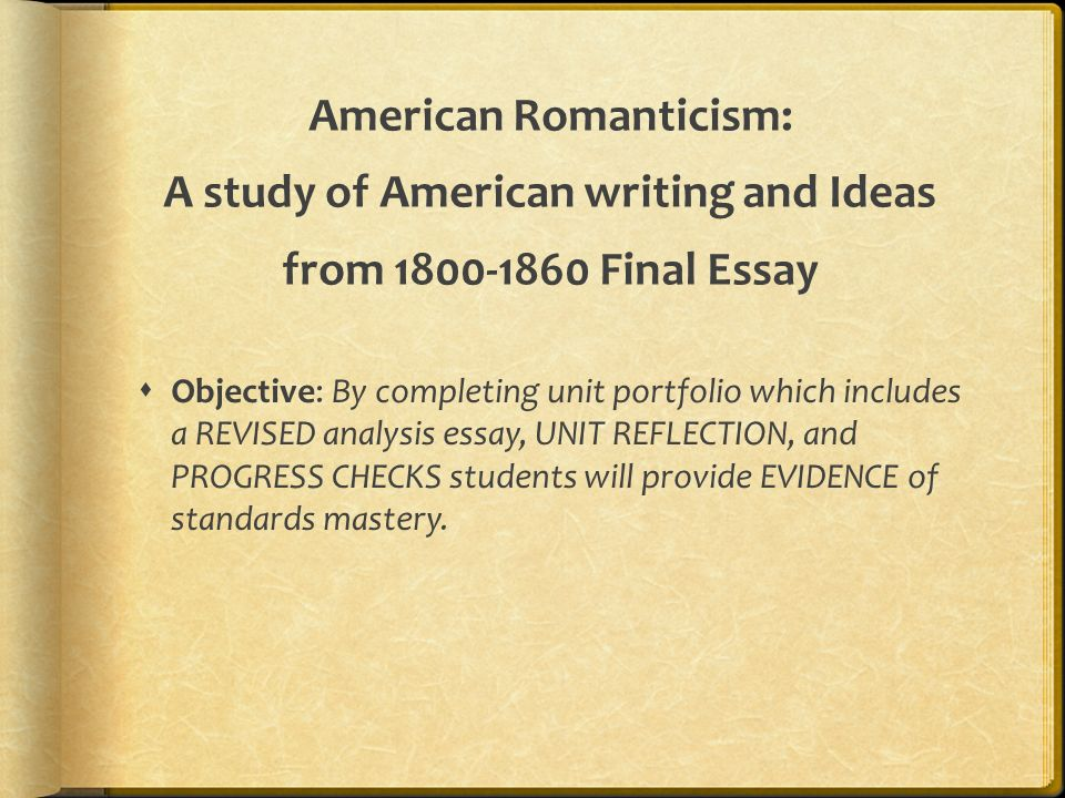 Essay The School  American Romanticism  Essay About Your Community also Futurism Essay American Romanticism A Study Of American Writing And Ideas From  Lord Of The Flies Essay Questions And Answers