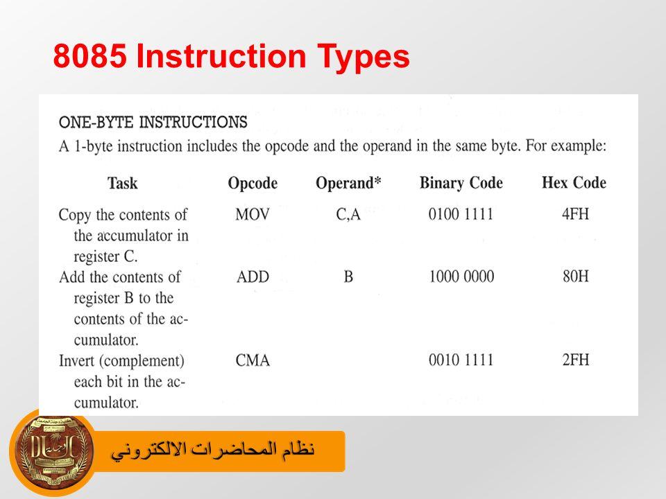 8085 Instruction Set Ppt Sample User Manual