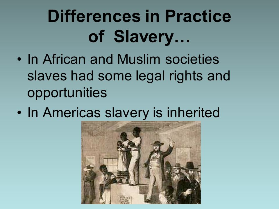 the evolution of slavery
