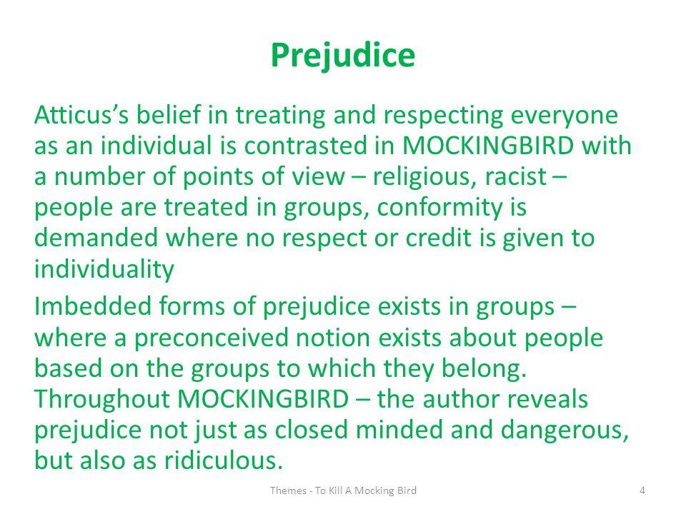 evidence of prejudice in to kill a mockingbird
