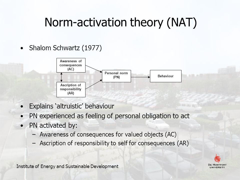 norm activation model schwartz 1977