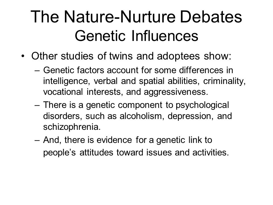 the nature debate