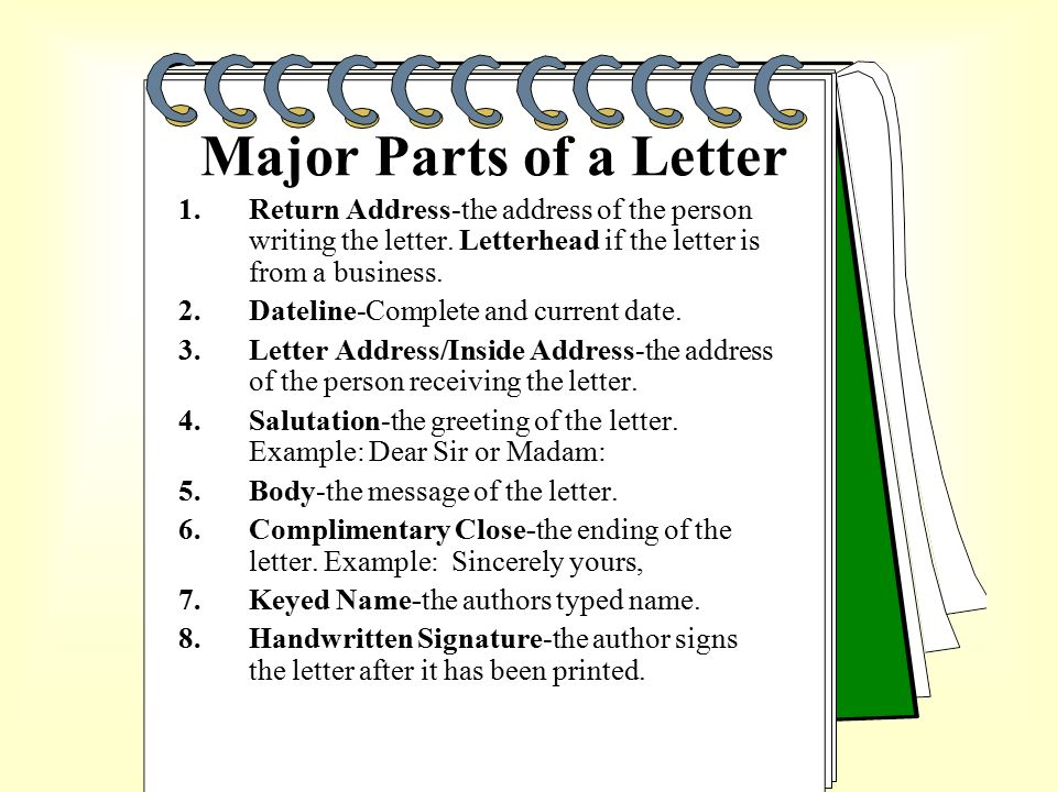 How To Format A A Letter Written By An Individual To Deal With
