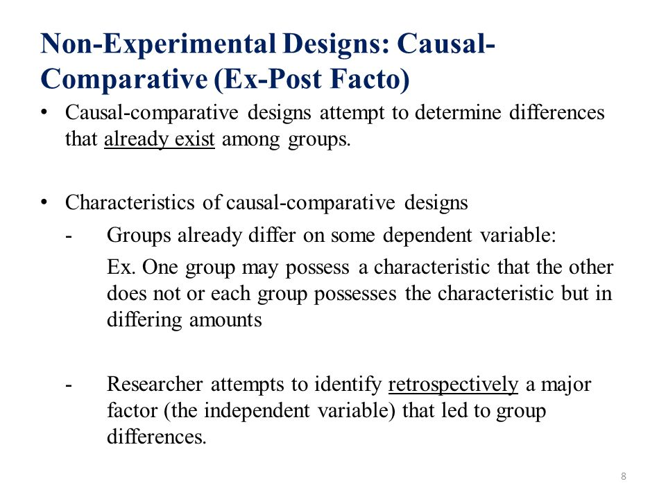 what is ex post facto design