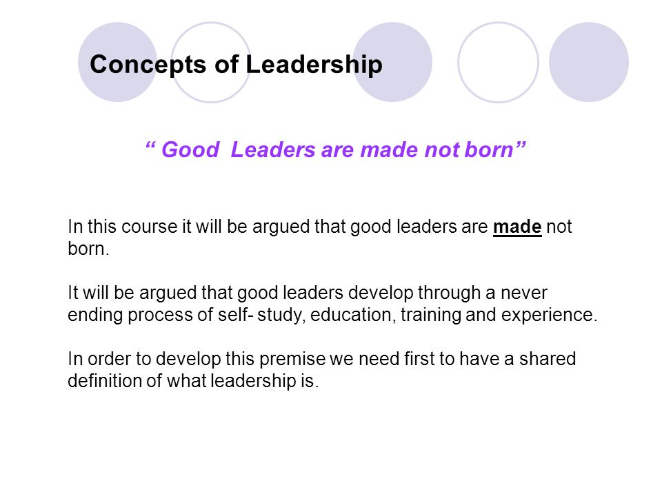 Module Two: Leadership Skills School Self Development