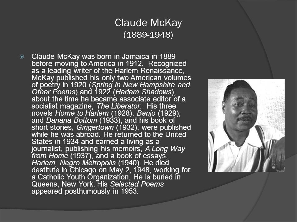where was claude mckay born