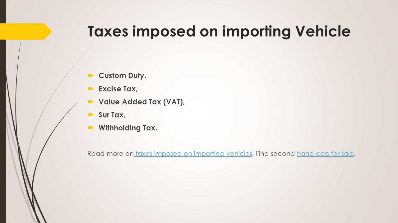 find tax value for vehicle