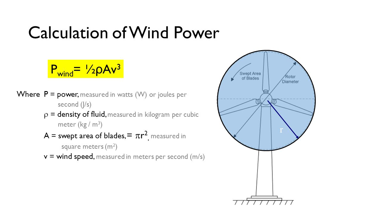 How to calculate a wind generator: formulas practical example of calculation 29