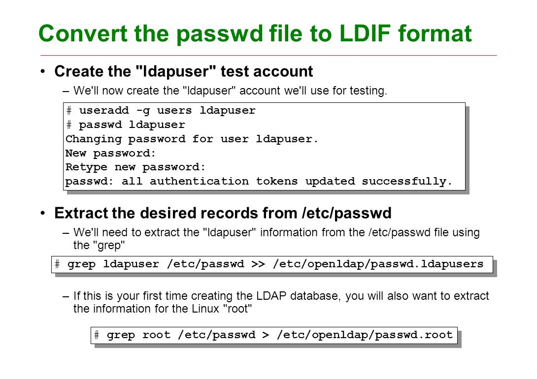 Lightweight Directory Access Protocol Objectives –This