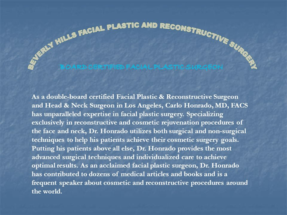 Speaking, opinion, Board of facial plastic surgery