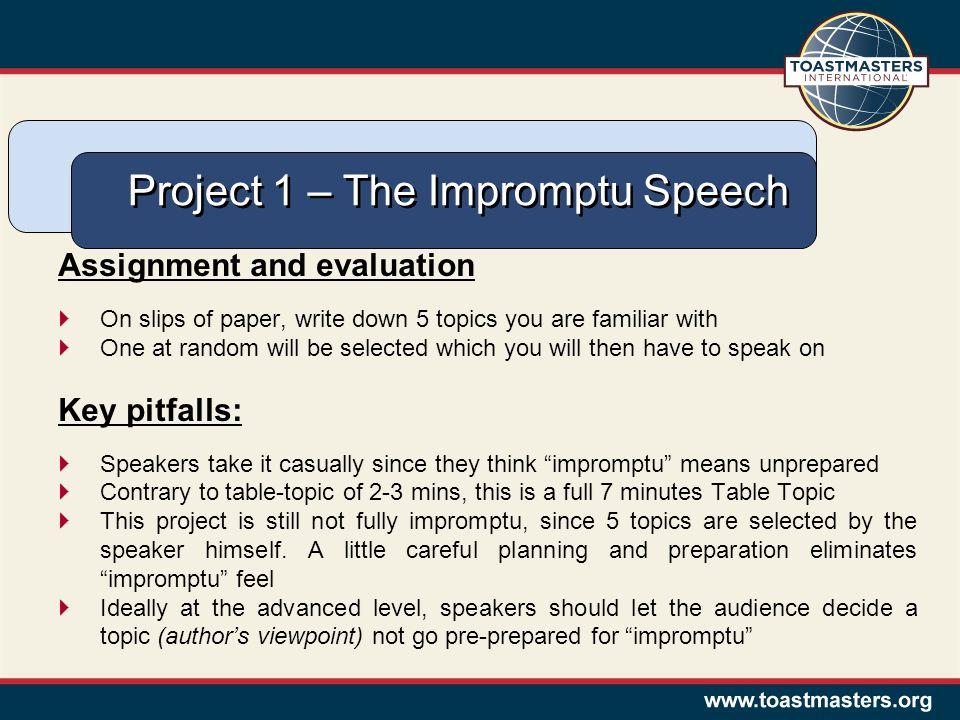 how to write a prepared speech