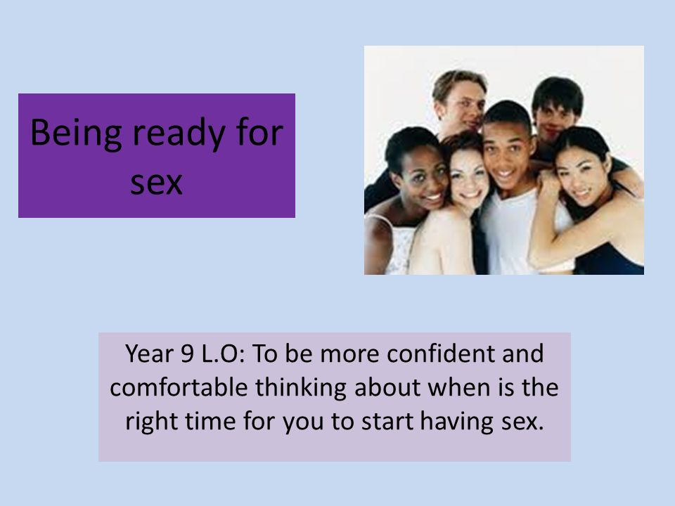 Having at right time sex
