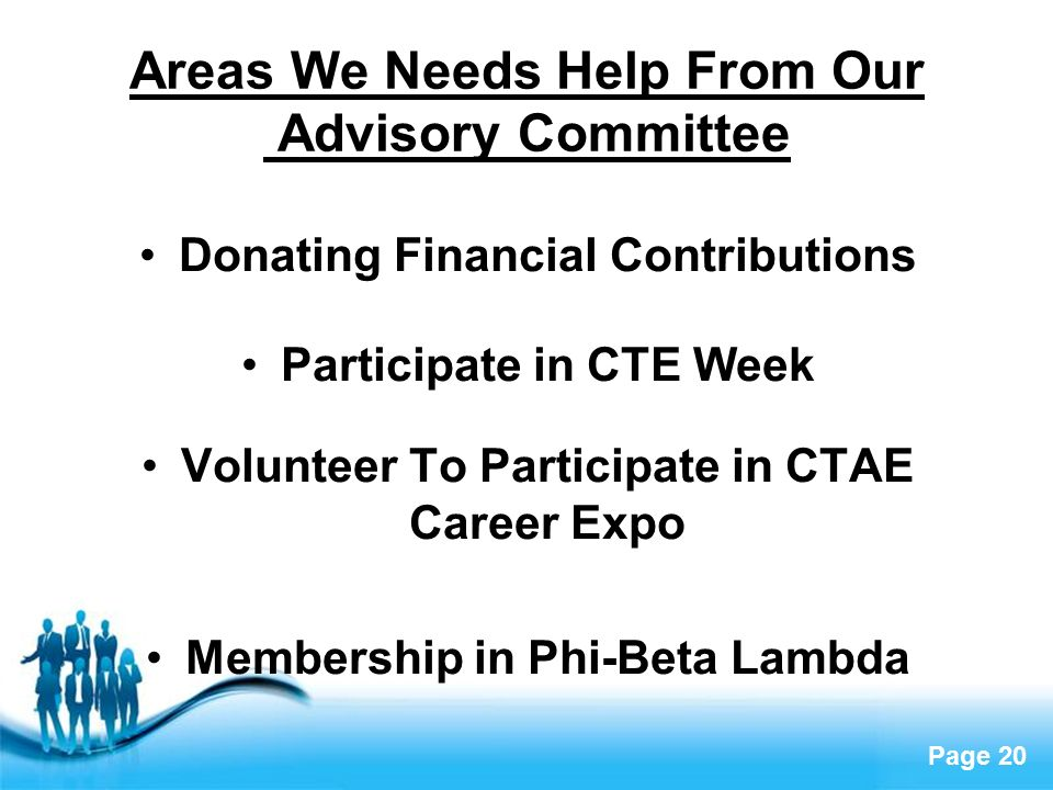 Free powerpoint templates page 1 free powerpoint templates career 20 free powerpoint templates page 20 areas we needs help from our advisory committee donating financial contributions participate in cte week volunteer to toneelgroepblik