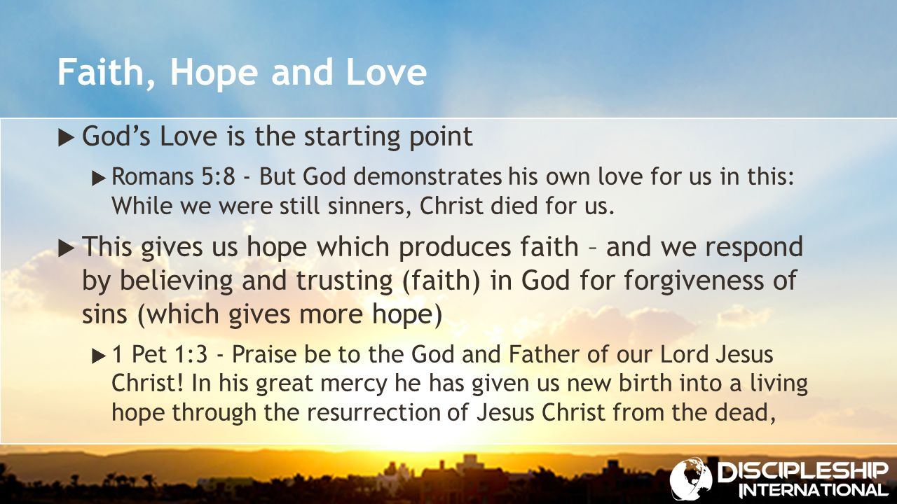 april 3, 2016 strengthening hope. hope  definition: an expectation