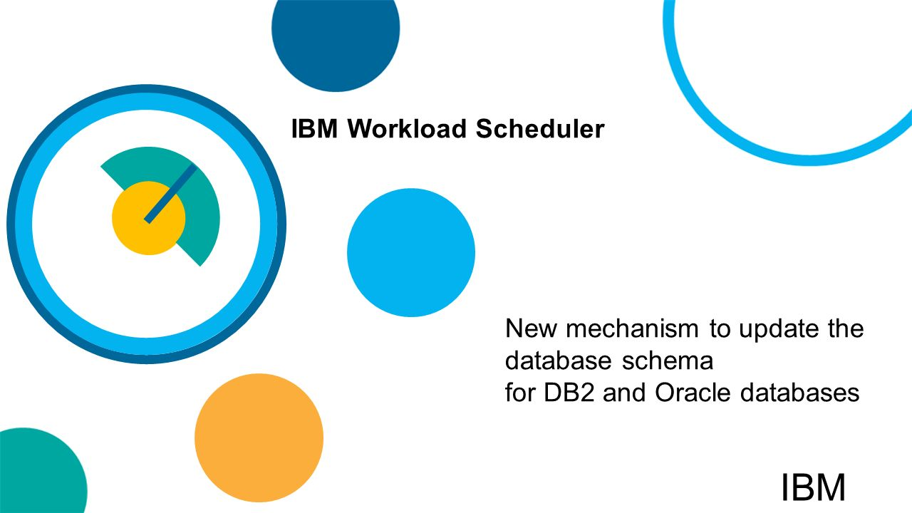 New mechanism to update the database schema for db2 and oracle 1 new mechanism to update the database schema for db2 and oracle databases ibm workload scheduler ibm ccuart Image collections