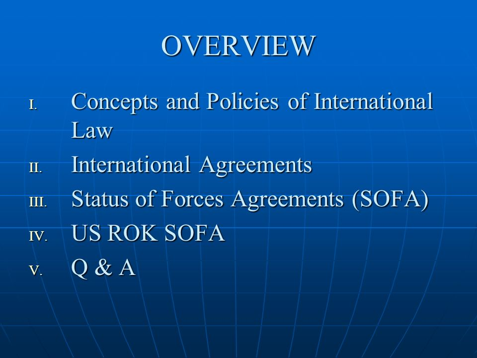 International Law Us Rok Status Of Forces Agreement Ewha