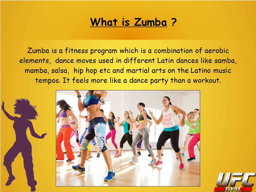 Zumba Is A Fitness Program Which Combination Of Aerobic Elements Dance Moves Used
