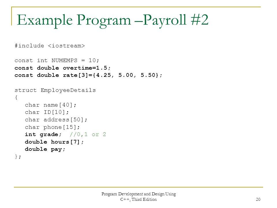 Chapter 6 Data Structures Program Development and Design