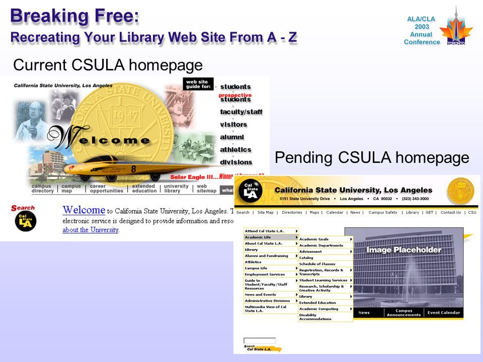The California State University, Los Angeles Web Site ...