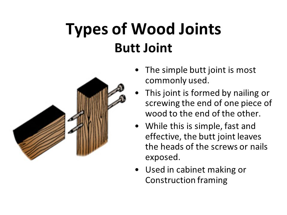Woodworking Joints Joinery Joinery Is The Part Of Woodworking That