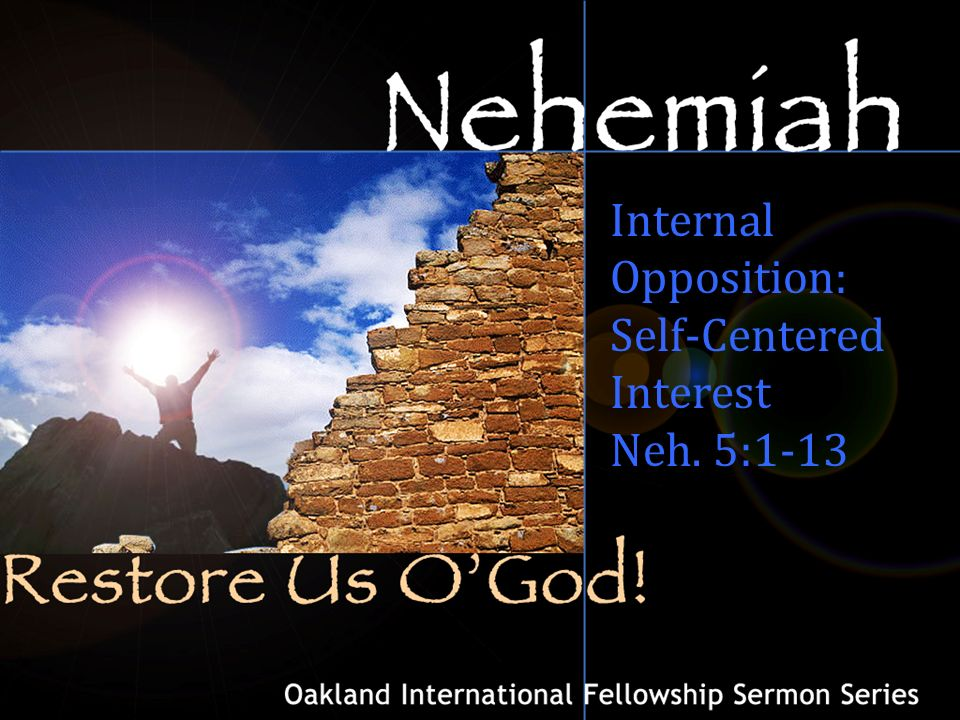 An introduction to the book of Nehemiah: Nehemiah's