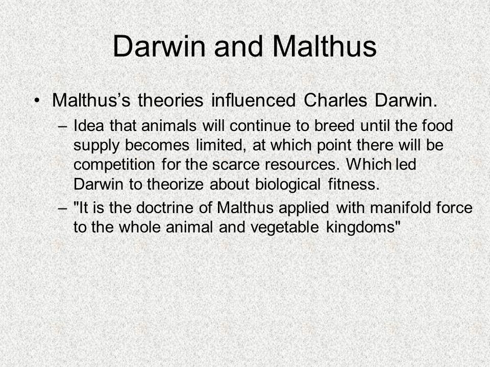 malthuss essay led darwin to