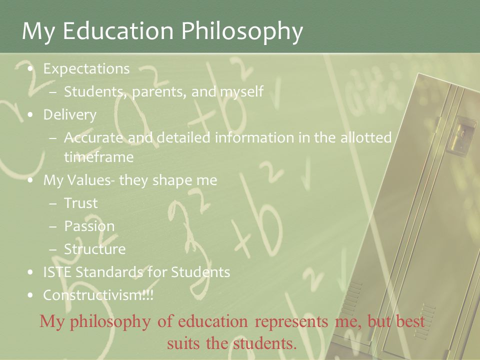 writing my philosophy of education