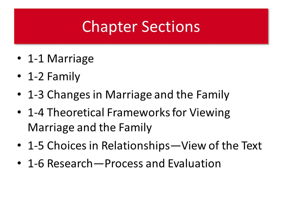 research on marriage and family