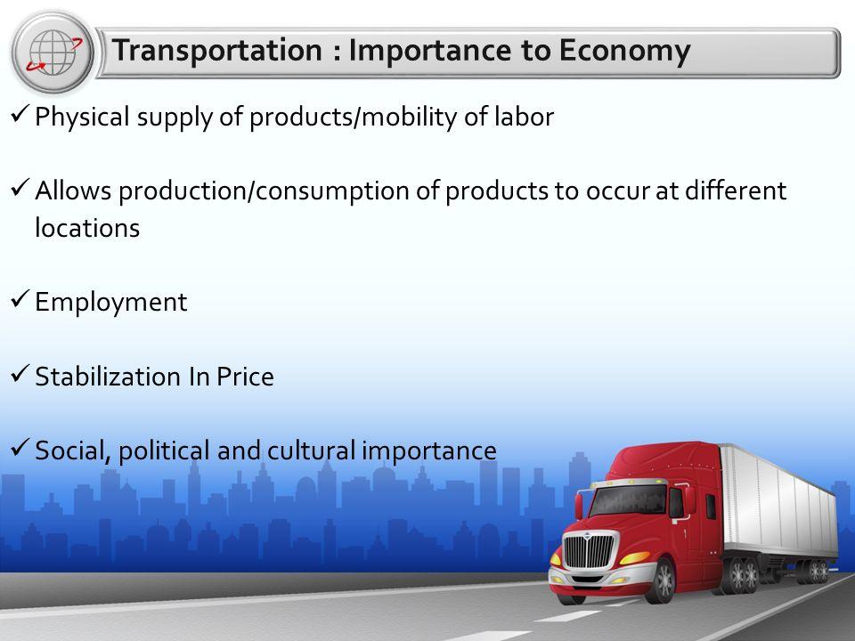 Transportation in Karnataka  Transportation : Importance to