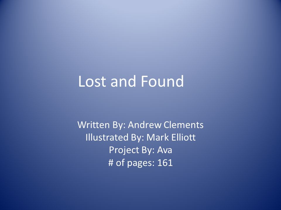lost and found clements andrew elliott mark