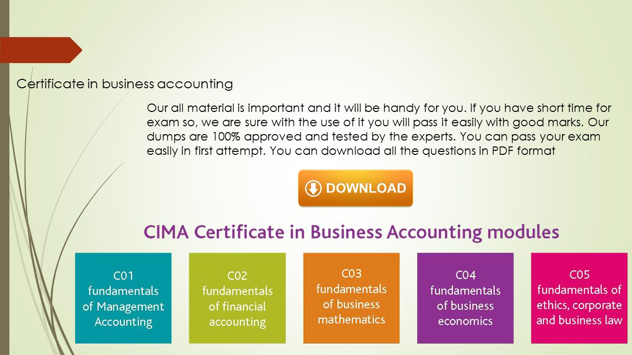 Fundamentals of management accounting cima c01 –. Ppt download.