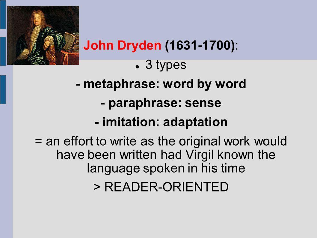 Traduttore Traditore Or Traduzione Tradizione Ppt Download Metaphrase Paraphrase And Imitation