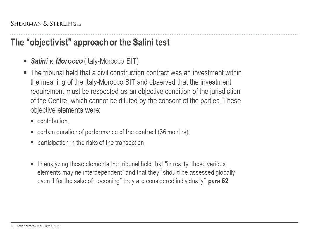 Salini v morocco definition investment portfolio investment banker vs underwriter