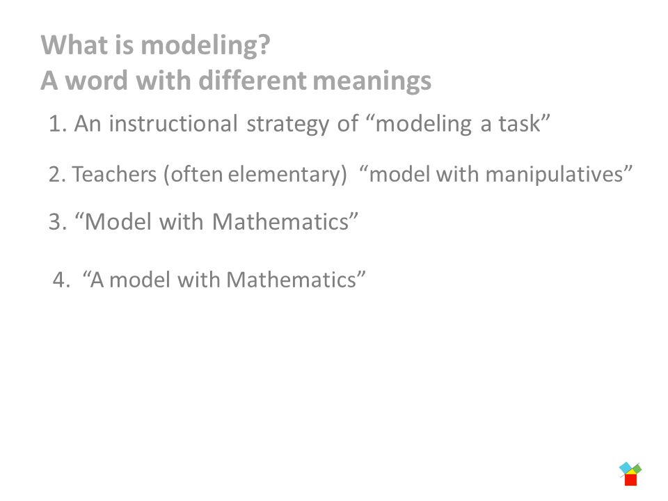 Initial Thoughts On Modeling Tasks Ccsso Math Scass Atlanta Georgia