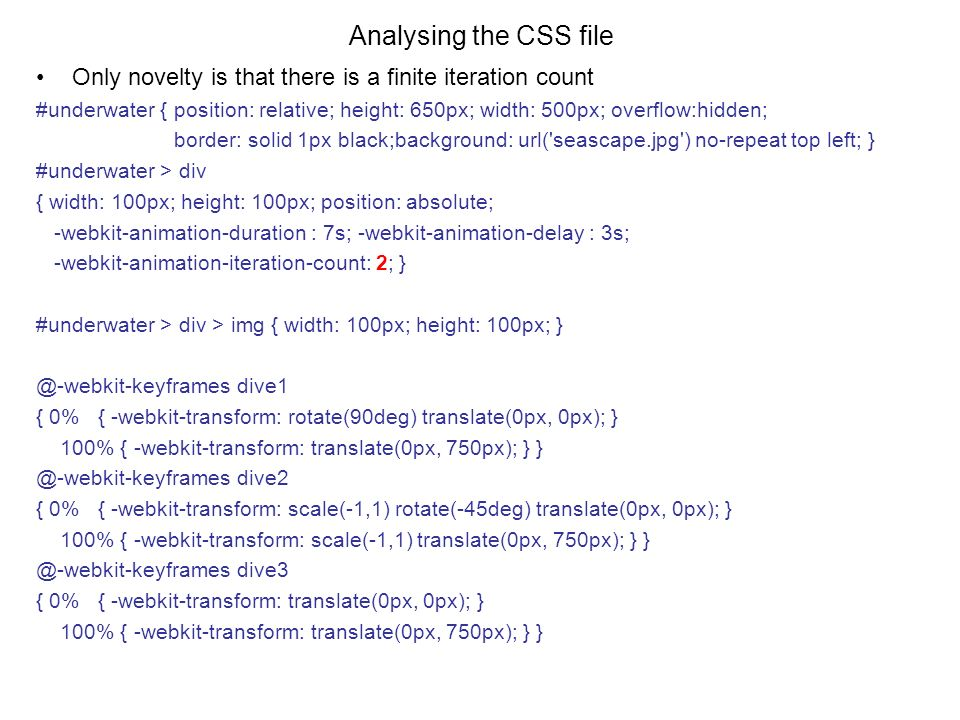 Towards programmatic control of keyframes, example 1 View this
