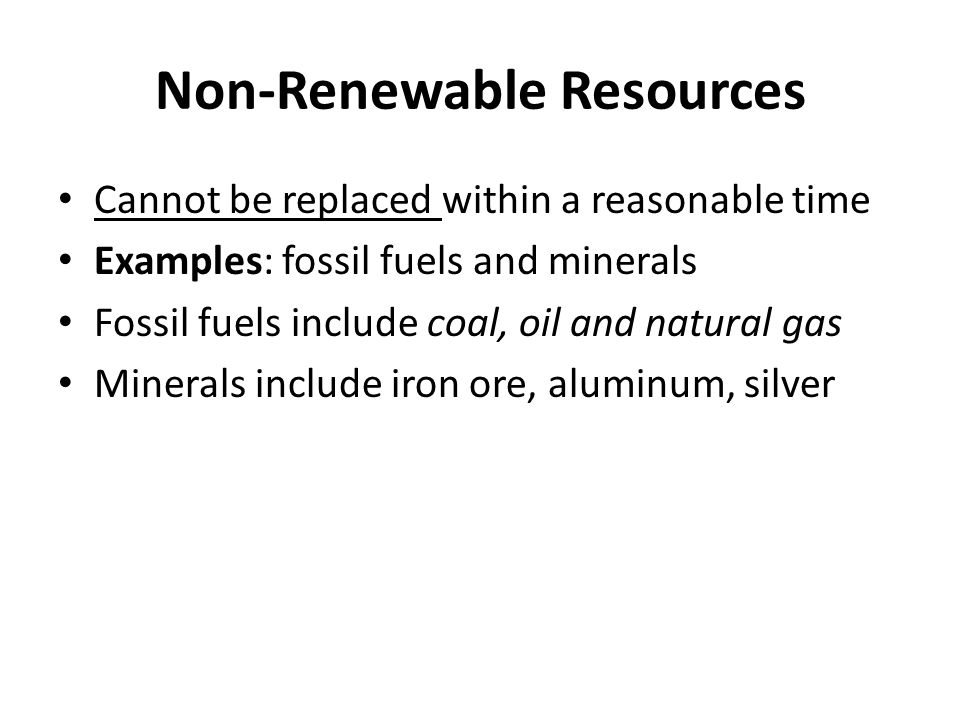 is iron renewable or nonrenewable