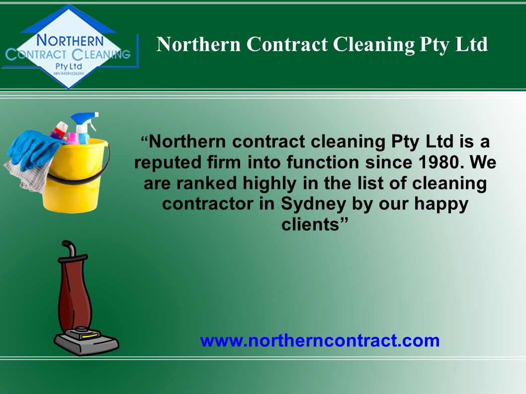 Northern Contract Cleaning Pty Ltd   Northern contract cleaning Pty Ltd is a reputed firm into function since 1980.