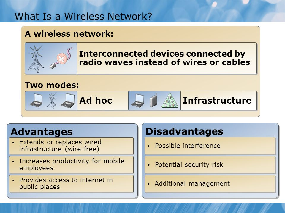 Module Overview Overview of Wireless Networks Configure a Wireless